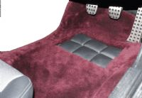 Front Pair Sheepskin Over Rugs - Mercedes SL (W107) 2 Seater From 1983 To 1989